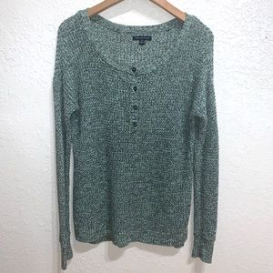 American Eagle Outfitters AEO Henley Sweater